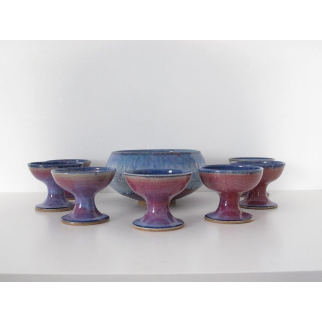 Studio Ceramic Punch Bowl Set - Set of 8 - Image 2 of 9