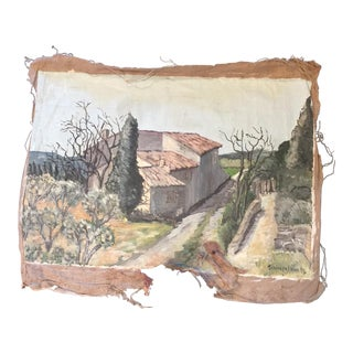 French Vintage Impressionistic Fragment Painting