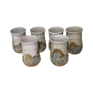 Signed Studio Pottery Tumblers - Set of 6