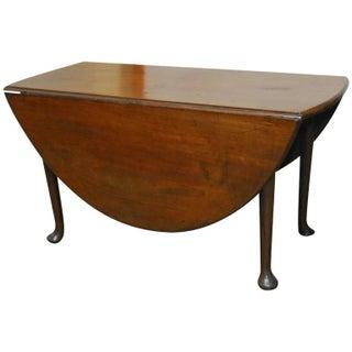 George III Period Walnut Drop-Leaf Dining Table
