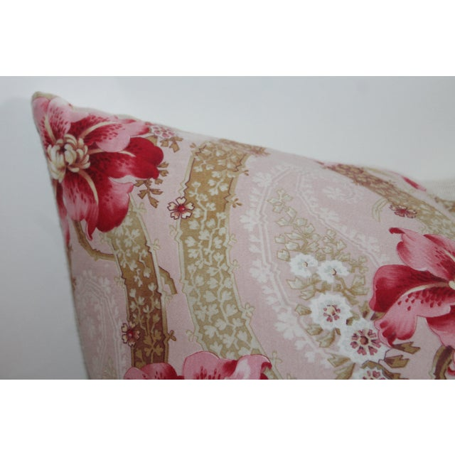 Vintage Floral Patterned Pillow - Image 3 of 6