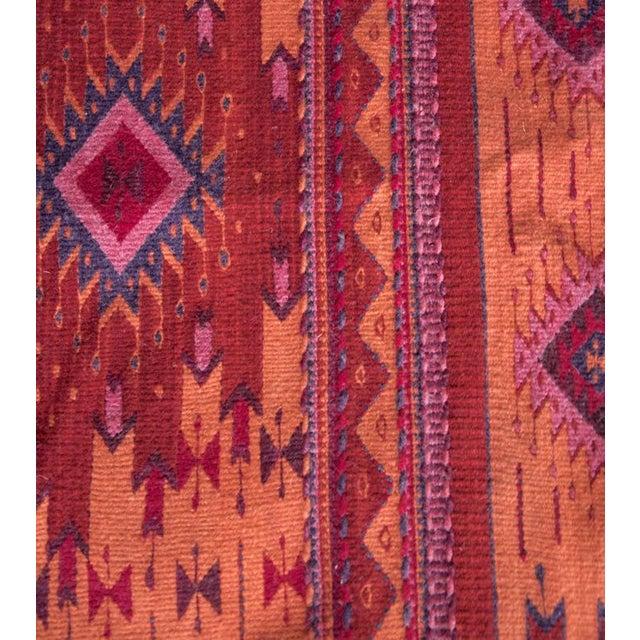 Red Handwoven Oaxaca Wool Rug 2 6 X 5 Chairish