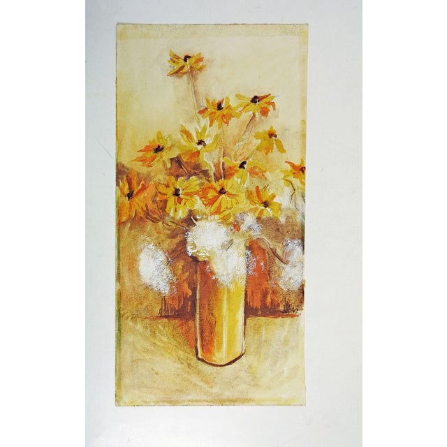 Yellow Daisies Still Life Watercolor Painting - Image 3 of 3