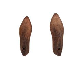 Primitive Shoe Mold Bookends - A Pair