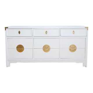 Vintage Mid-Century Modern High Gloss White Dresser