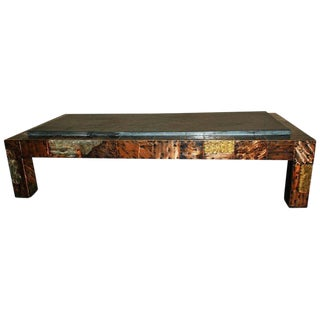 Large Mid 20th Century Paul Evan's Patchwork and Slate Coffee Table