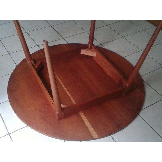 Thos Moser Round Dining Table - Image 5 of 10