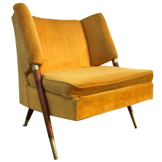 Mid Century Yellow Floating Lounge Chair - Image 1 of 11