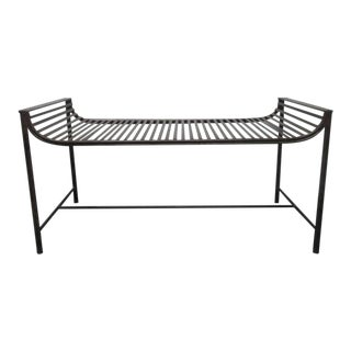 Vintage French Iron Bench