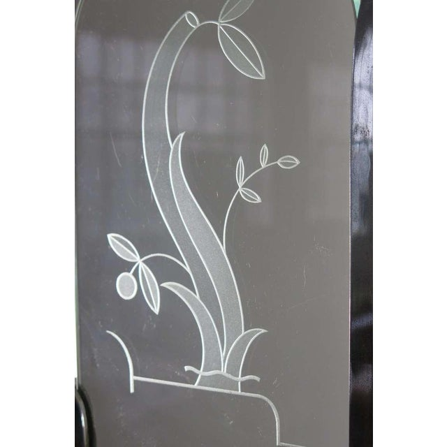 Italian Etched Glass Deco Chandelier - Image 7 of 9