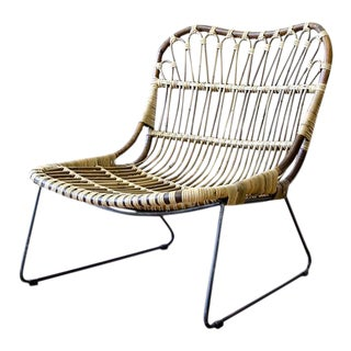 Low Rattan Lounge Chair