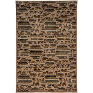 """Arts & Crafts Style Hand Knotted Area Rug - 6'1"""" X 9'"""