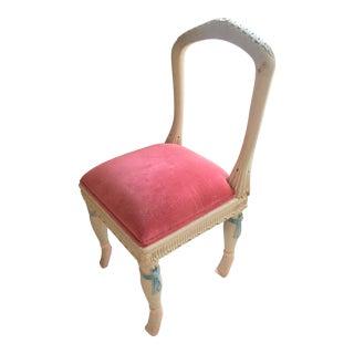 Pink 'En Point' Accent Vanity Chair
