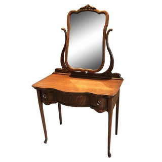 Antique Tigerwood Vanity Table