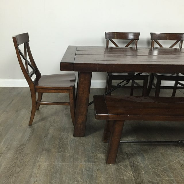 Pottery Barn Dining Set: Rustic Pottery Barn Dining Set