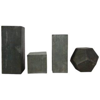 1920s Zinc Geometric Forms - Set of Four
