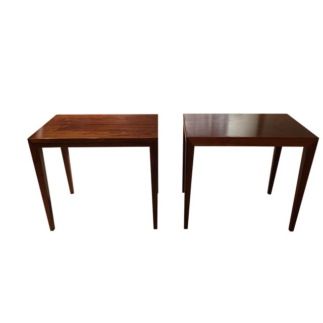 Vintage Danish Midcentury Rosewood Side Tables - 2 - Image 1 of 5