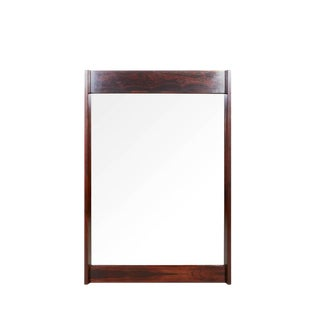 Mid Century Rosewood Wall Mirror