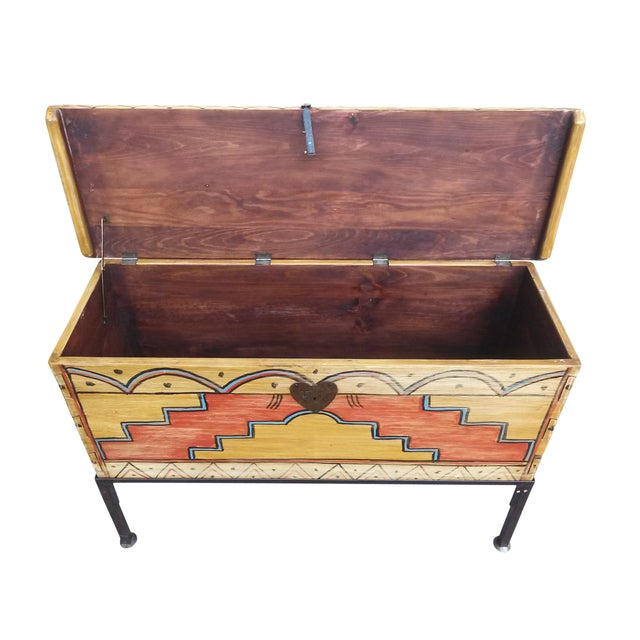Hand Made Mexican Trunk by Carrington and Foss - Image 3 of 10