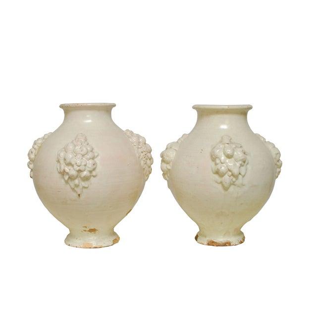 Italian Earthenware Pottery Jars - Pair - Image 1 of 6
