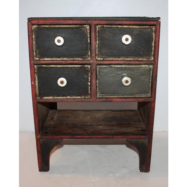 19th Century Original Paint Decorated Tabletop Apothecary Cabinet - Image 3 of 8