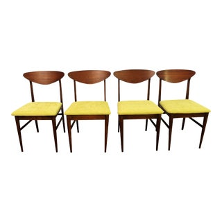 Mid-Century Danish Modern Walnut 'Citron' Shell Back Dining Chairs - Set of 4