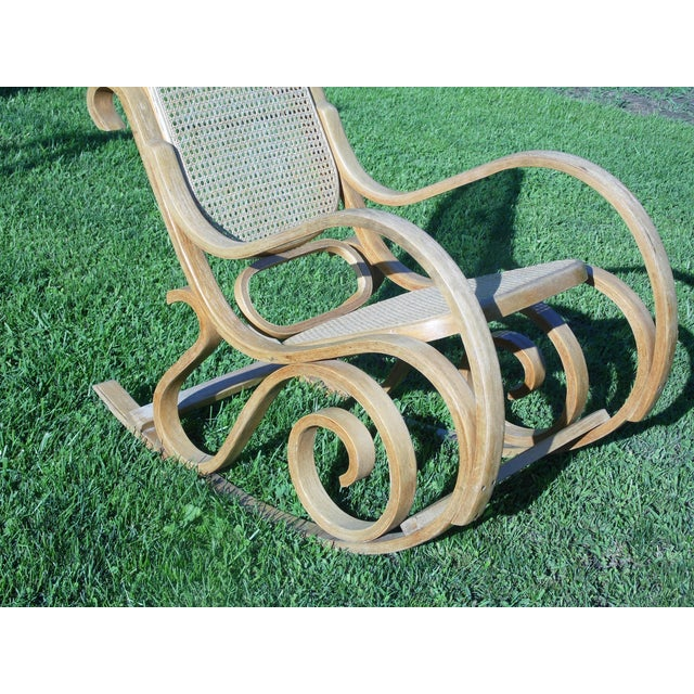 Bentwood Thonet Style Rocking Chair - Image 4 of 5
