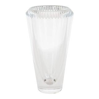 Modernist Cut Crystal Vase by Orrefors