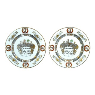 Chinese Export Armorial Plates for Scotland - A Pair