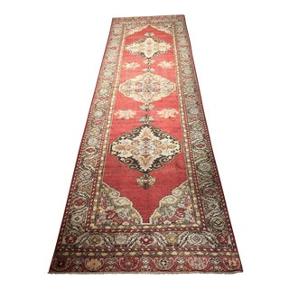 "Vintage Turkish Oushak Runner - 3'3"" x 11'2"""