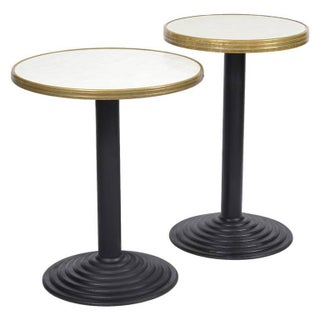 French Art Deco Bistro Tables - Pair