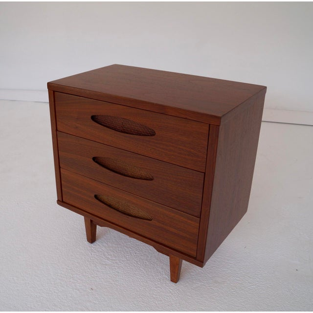 McCoy Furniture Mid-Century 3-Drawer Walnut Nightstand - Image 6 of 10