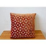 Image of Large Orange Cowtan Tout Astrid Pillow
