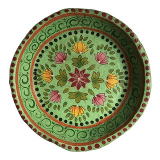 Indian Decorative Paper Mache Plate
