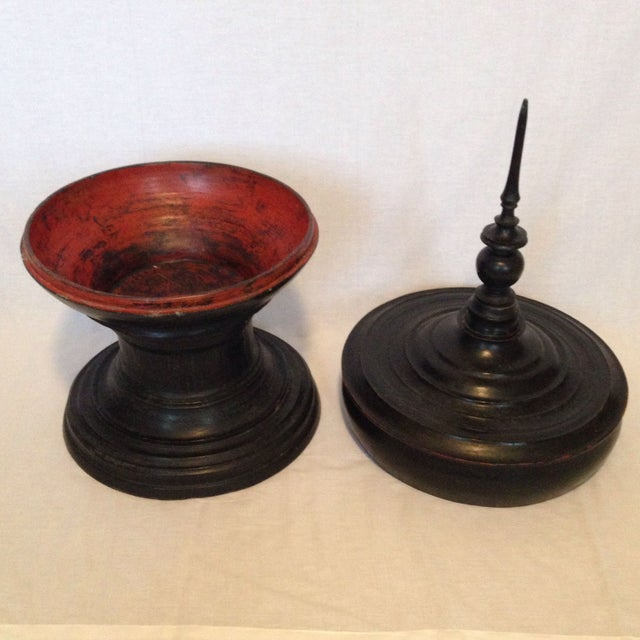 Image of Antique Offering Bowl With Lid