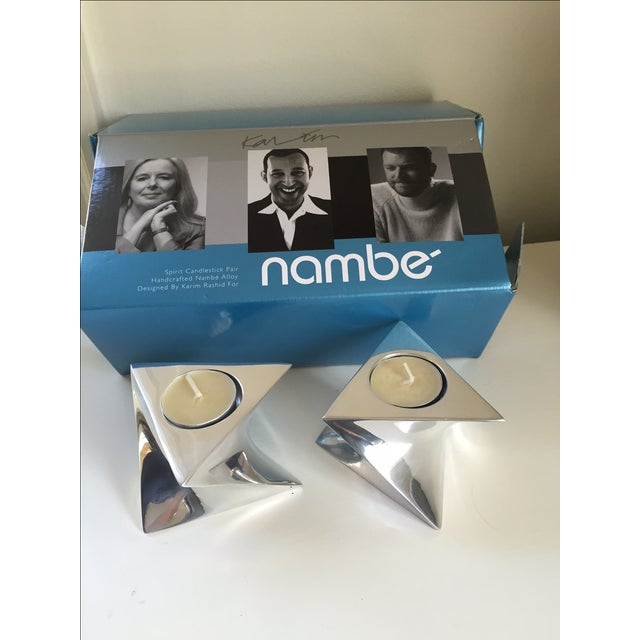 Nambe Spirit Candlestick Holders- A Pair - Image 3 of 3