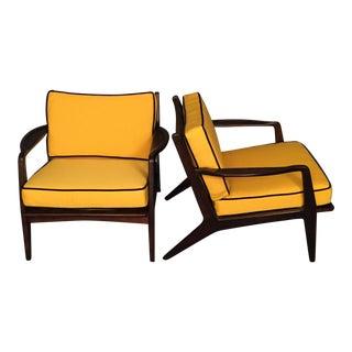 Mid-Century Danish Restored Arm Chairs - A Pair