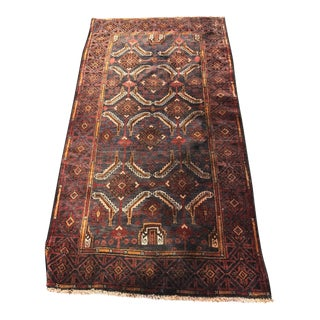 Vintage Persian Baluchi Small Area Rug - 3' X 5'8""