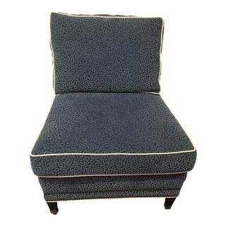 Blue Mayfair Slipper Chair