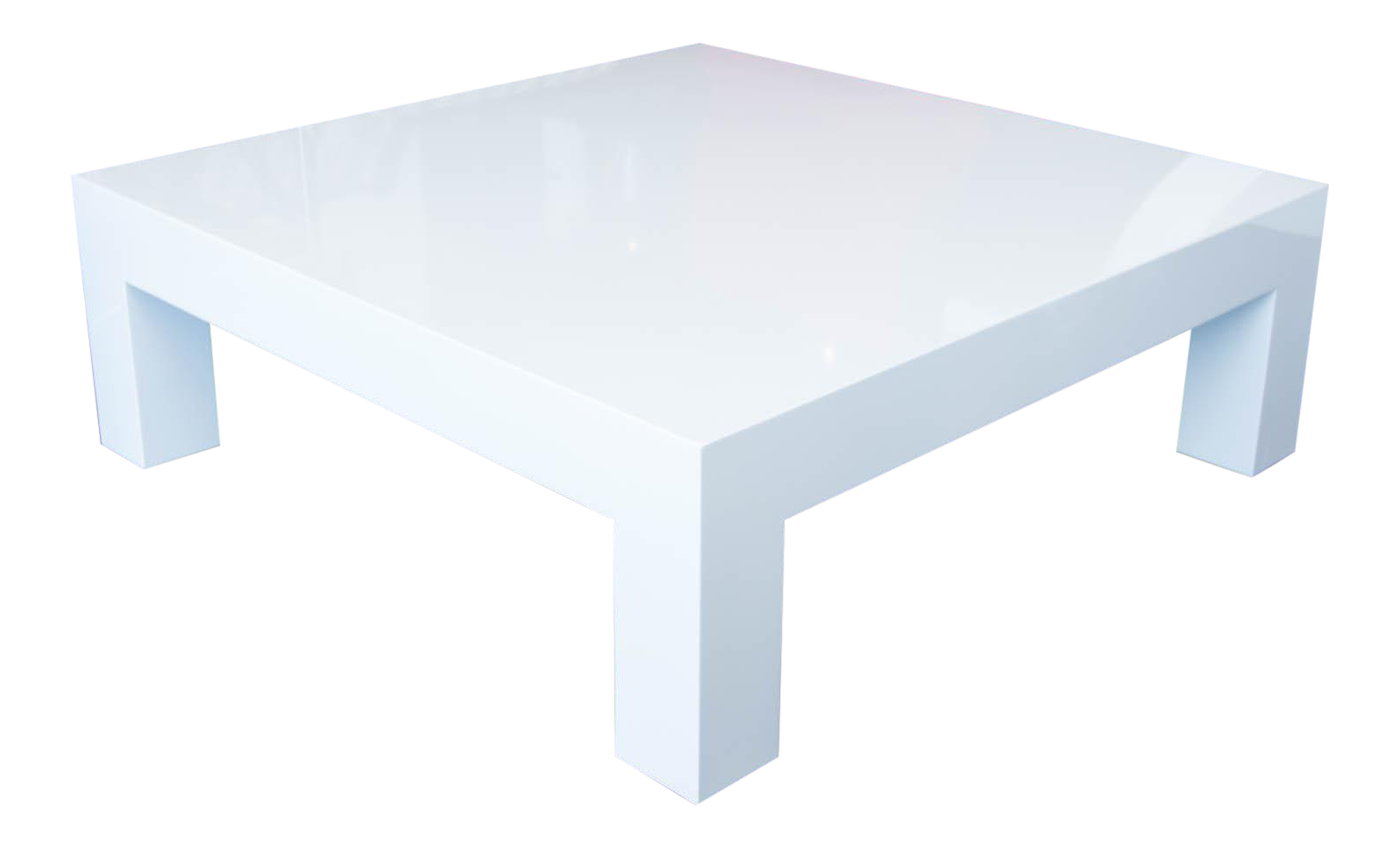Square Lacquered Parsons Style Coffee Table   Image 1 Of 8