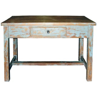 Distressed Blue Table