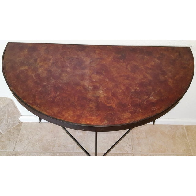 Iron & Acid Washed Copper Console Table - Image 6 of 7