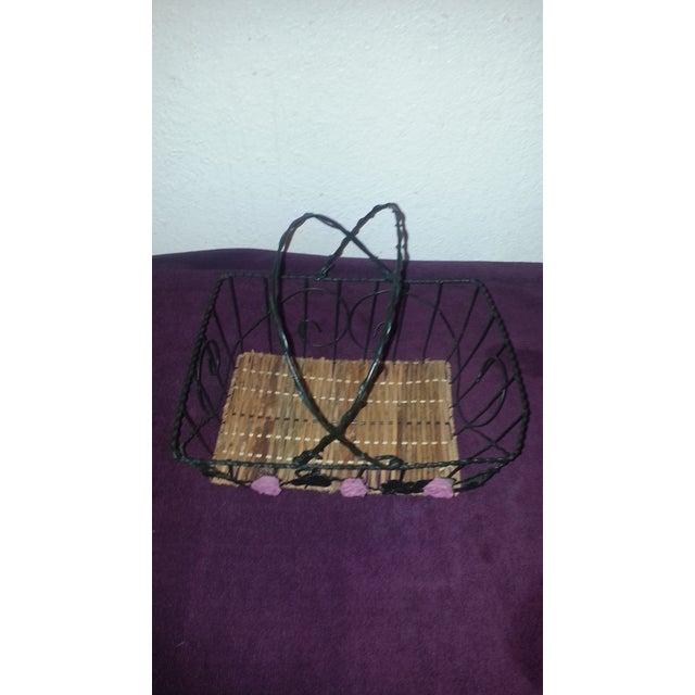 Wicker & Wire Basket - Image 3 of 5