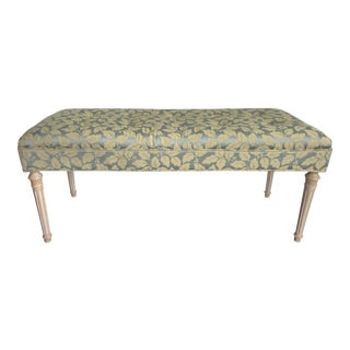 English Traditional Upholstered Bench
