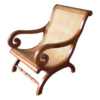 Anglo Indian Caned Plantation Chair