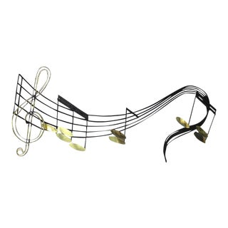 Music Notes Sculpture Signed Curtis Jere