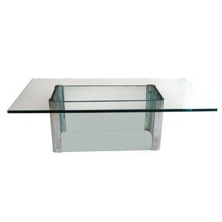 Mid-Century Glass & Chrome Table