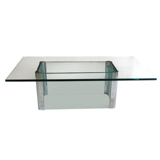 Mid-Century Glass & Chrome Table