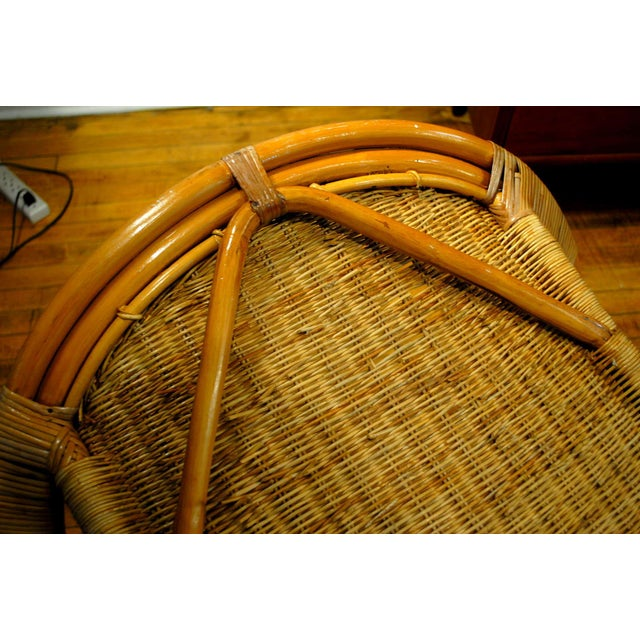 Midcentury Rattan and Wicker Rockers- A Pair - Image 10 of 11