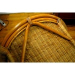 Image of Midcentury Rattan and Wicker Rockers- A Pair